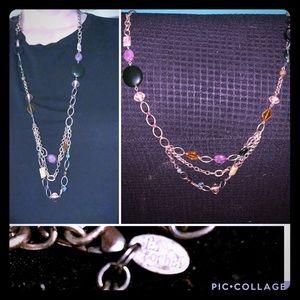 Lia Sophia beaded gold tone necklace